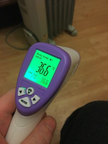 No Contact Fever Thermometer - Digital Forehead Thermometer - Adults and Babies photo review
